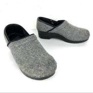 Dansko Wool Felt Clogs Smoke Grey Size 8.5-9